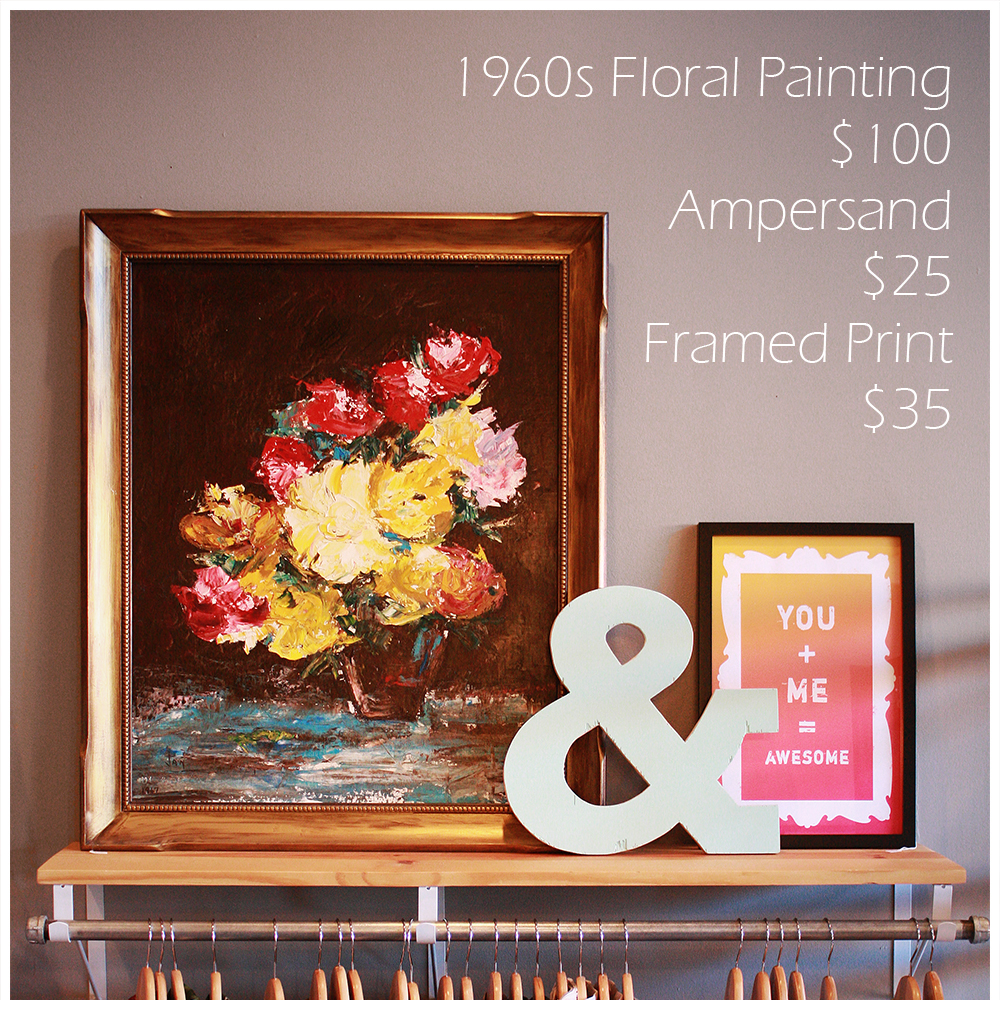 Floral Painting $100, Ampersand $25, Framed Print $35