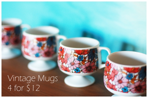 Vintage Mugs $12