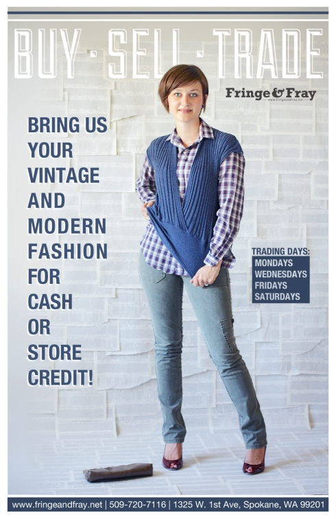 Bring us your vintage and modern fashion for cash or store credit!